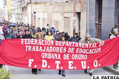 Además hoy habrá una marcha en la mañana  /LA PATRIA /ARCHIVO
