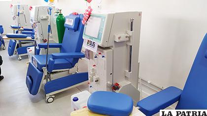 Las nuevas máquinas de hemodiálisis de la Unidad Municipal /LA PATRIA