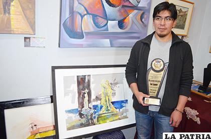 Luis Mora ganó el primer concurso Arte en Vivo San Lucas /LA PATRIA /Johan Romero