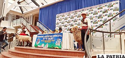 Ayer fue la presentación oficial de la expoferia en el hall de la Gobernación /LA PATRIA