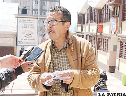 Roberto Padilla Mérida, fue sorprendido con su cambio de recinto /LA PATRIA
