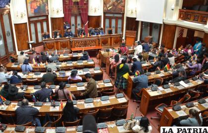 Pleno de la Cámara de Diputados /erbol.com