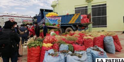 Durante la pandemia donaron gran cantidad de hortalizas  /GAMS