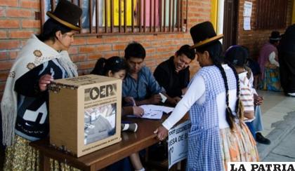 Gran parte de los votantes están aglutinados en la ciudad de Oruro /archivo LA PATRIA