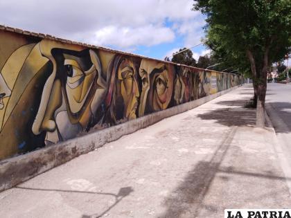 Los murales que pretende elaborar el gobierno municipal, sin duda embellecerán la ciudad de Oruro /LA PATRIA