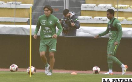 """Marcelo Martins durante en entrenamiento en el """"Hernando Siles"""" /APG"""