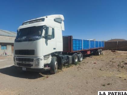 El camión fue recuperado por personal policial de Diprove /Cortesía