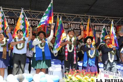 Movilización de las Seis Federaciones en Cochabamba /FACEBOOK EVO MORALES