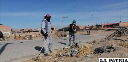 Las faenas de limpieza crean consciencia en la ciudadanía /GAMO