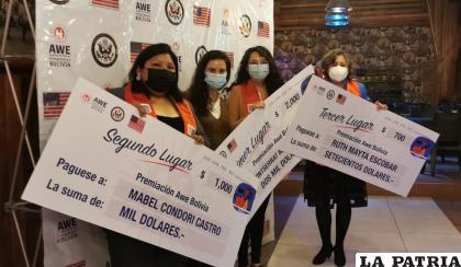 Las tres ganadoras del capital semilla /LA PATRIA