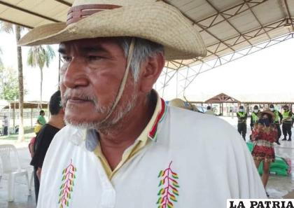Marcial Fabricano, durante la Marcha Indígena /ARCHIVO CORREO DEL SUR