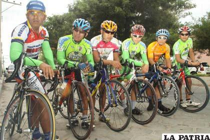 Pedalistas que participarán en la Vuelta a Bolivia