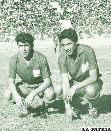 Héctor Pérez y Ángel Toledo antes del partido ante Colo Colo