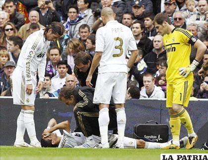 Di María se lesionó en pleno partido ante Osasuna