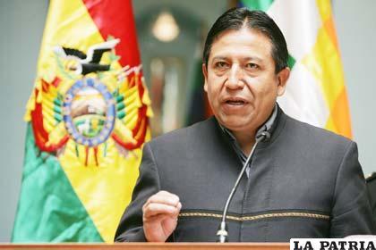 Choquehuanca habla de los acuerdos con EE. UU.