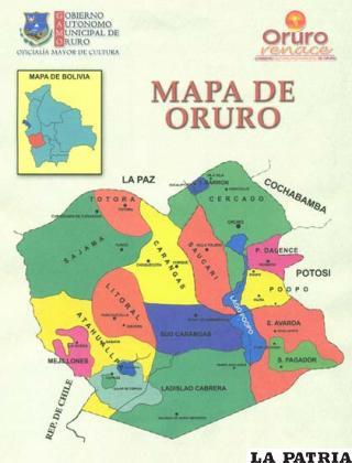 Alcaldia Socializa Mapa Politico De Oruro