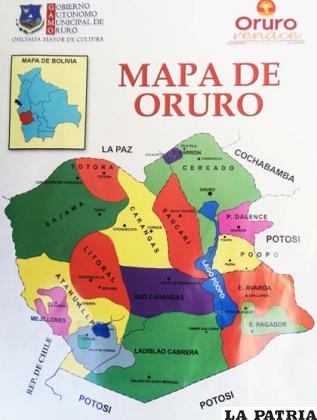 Mapa político elaborado por la Alcaldía