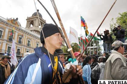 Así marcharon los guardianes del Tipnis, que ahora anuncian pedir revocatoria del Primer Mandatario