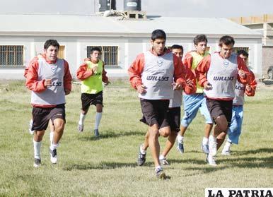 Entrenamiento de los jugadores de San José