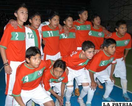 Jugadores de la selección de La Paz