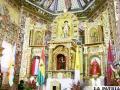 Retablo de la Capilla Sixtina del Altiplano, completamente restaurado