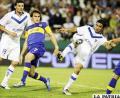 Una escena del partido Boca ante Vélez