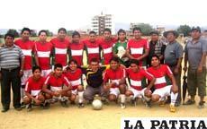 Integrantes del equipo Deportivo Poopó Porvenir