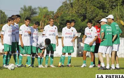 La selección boliviana de fútbol Sub-20 inició su prácticas previa ...