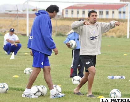 Ferrufino e Ignacio García durante el entrenamiento
