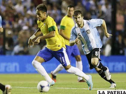 Neymar fue el que llevó la iniciativa de Brasil