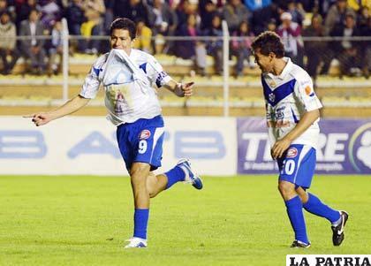 Carlos Saucedo fue autor de tres goles (foto: APG)
