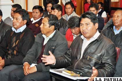 Transportistas que participaron de la reunión