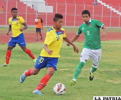 Del partido en el cual Bolivia cayó ante Ecuador