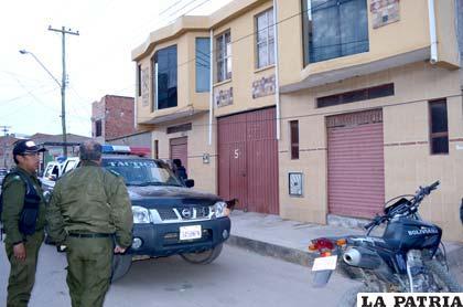 La casa donde ingresaron los delincuentes