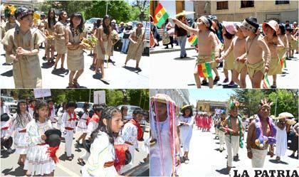 Los niños representaron a gran parte de las etnias bolivianas
