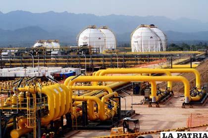 Planta de industrialización del gas