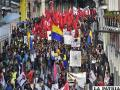 Trabajadores ecuatorianos protestan ante medidas dispuestas por su gobierno