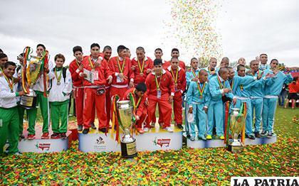 Tarija campeón, Pando subcampeón y tercer lugar para Bolívar de Oruro
