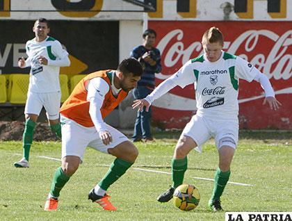 Ayer hicieron un poco de fútbol, Baldivieso aún no tiene el equipo titular /APG