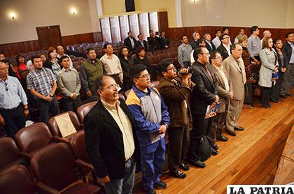 Parte de las delegaciones que asisten al Congreso Nacional de la CUD