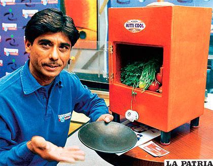 El recipiente de arcilla conserva alimentos y medicinas como un frigorífico