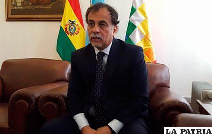 Normando Álvarez, embajador de Argentina en Bolivia /ANF