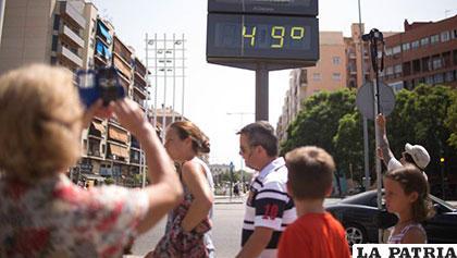 En algunos lugares del mundo se registraron 49 grados centígrados