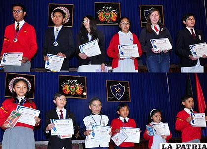 Algunos de los estudiantes que se destacaron en matemática