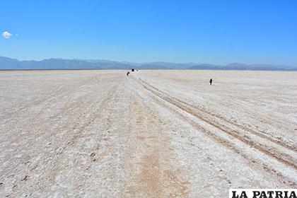 El lago se convirtió en un desierto de tierra y salitre