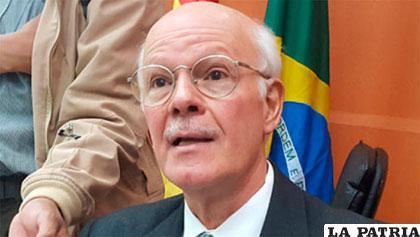 El embajador de Brasil en Bolivia, Raymundo Santos /ANF