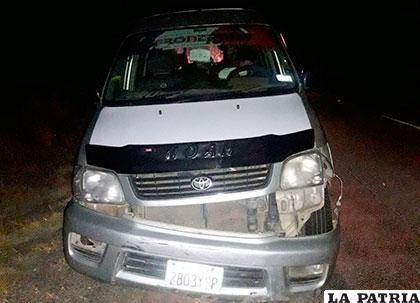 El daño fue en la parte delantera del motorizado