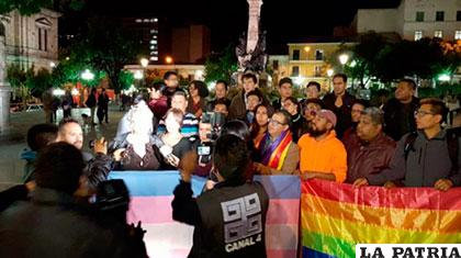 Colectivo LGTB protesta por sentencia del Tribunal Constitucional /Cámara de Diputados