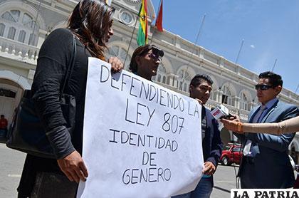 Comunidad TLGB se movilizó en defensa de la Ley de Identidad de Género