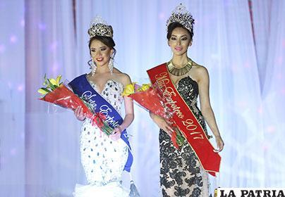 Miss y Señorita Expoteco 2017, Pamela Félix (der.) y Katherine Rocha (izq.)